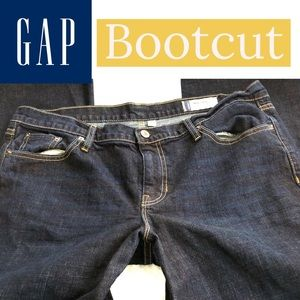 GAP Bootcut Dark Wash Short Petite Medium Rise